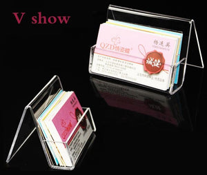 Sleek and Modern Acrylic Business Card Holder - Two Styles - AtHomeWithZane