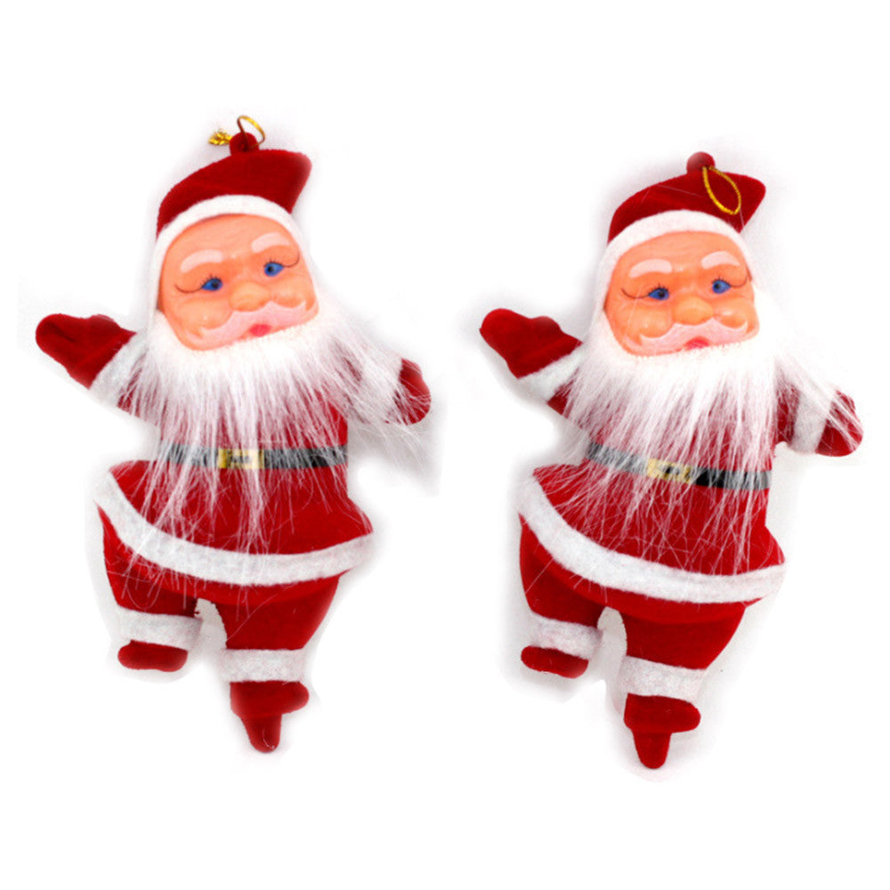 "Vintage ""Inspired"" Set of 2 Christmas Santa Ornaments - AtHomeWithZane"