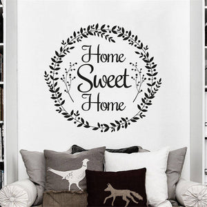 Home Sweet Home Wall Decal - Multiple Colors to Choose From - AtHomeWithZane