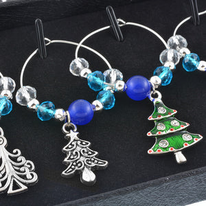 6 Piece Holiday Wine Glass Charms - Several Styles - AtHomeWithZane