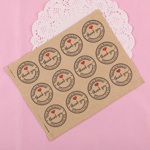 "Thank You Stickers ""Kraft"" Paper Labels One Hundred-Twenty (120) Labels - AtHomeWithZane"