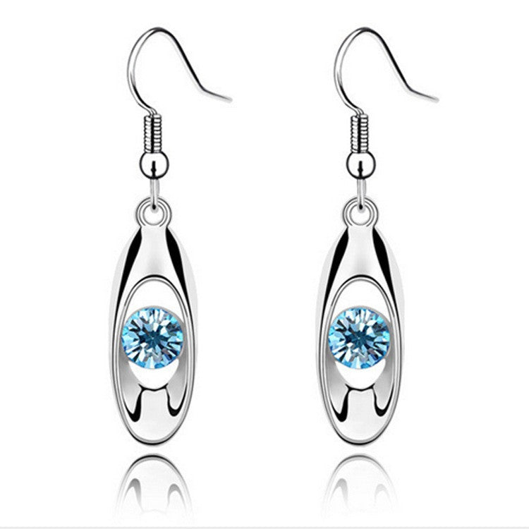 Stunning Water Drop Earrings - Several Colored Stones to Choose From - AtHomeWithZane