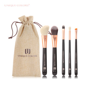 Woman's Five (5) Piece Facial Basic Makeup Brush Set - AtHomeWithZane