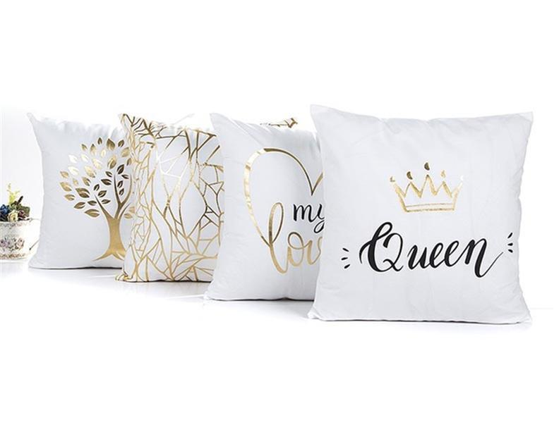 Gold Glam Pillowcase Slipcovers Several Styles - AtHomeWithZane