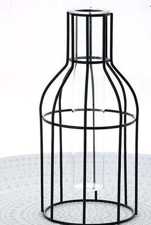 Metal and Glass Vases - Minimalist Decor - AtHomeWithZane