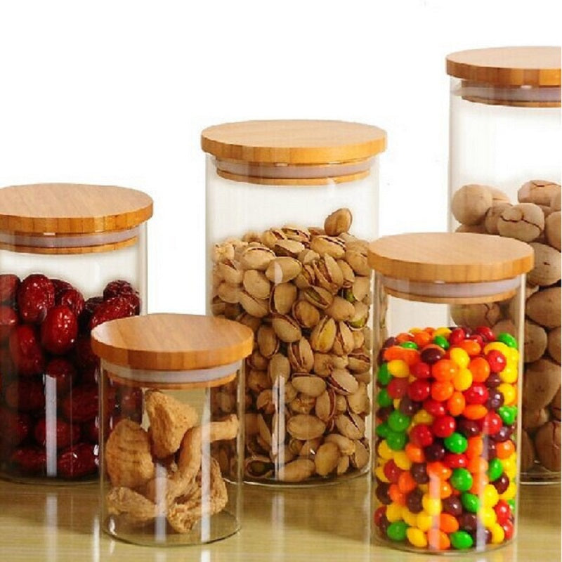 Glass Sealed Transparent Storage Containers  3 Sizes - AtHomeWithZane