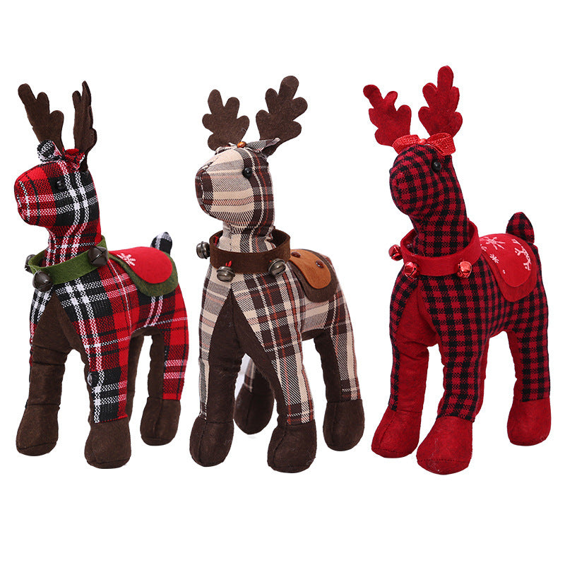 Plaid Deer Three Colors and Patterns - AtHomeWithZane