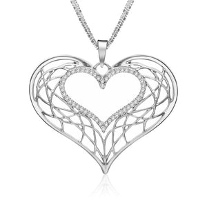 Open Heart Pendant Necklace - AtHomeWithZane