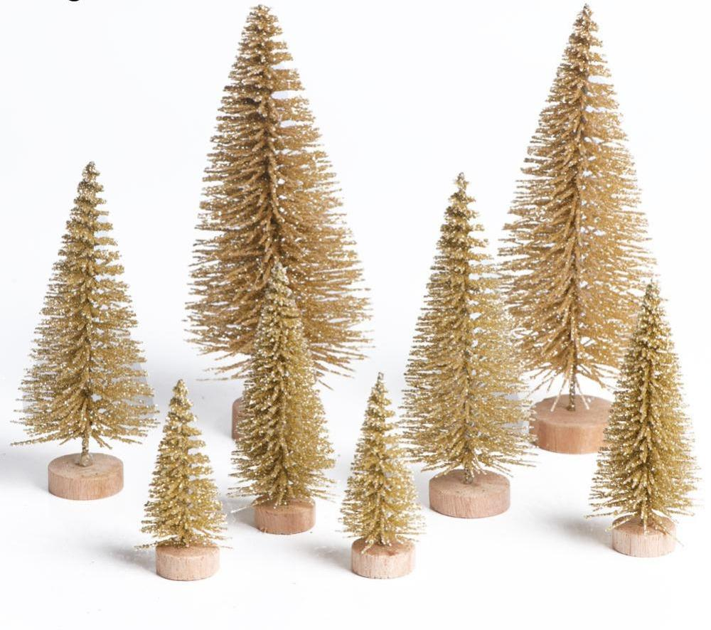 Set of 8 Bottle Brush Christmas Trees 3 Color Choices - AtHomeWithZane