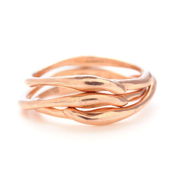 14K OR SS SEAGRASS STACK - Emily Amey Handmade one of a kind jewelry Hudson Valley New York.