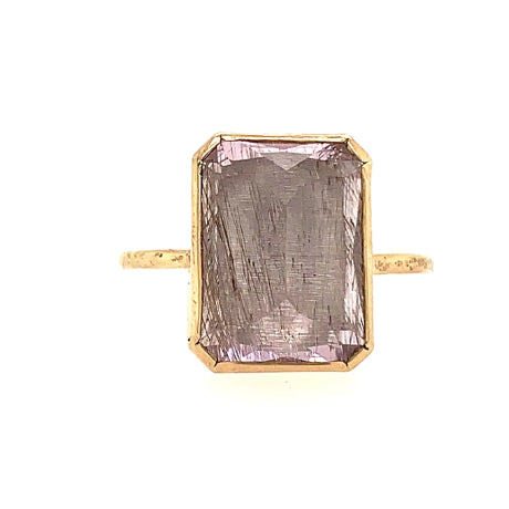 14k KUNZITE WITH RUTILE