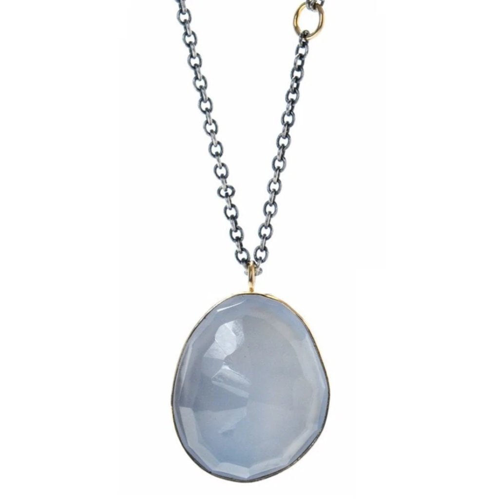 ROSECUT CHALCEDONY NECKLACE