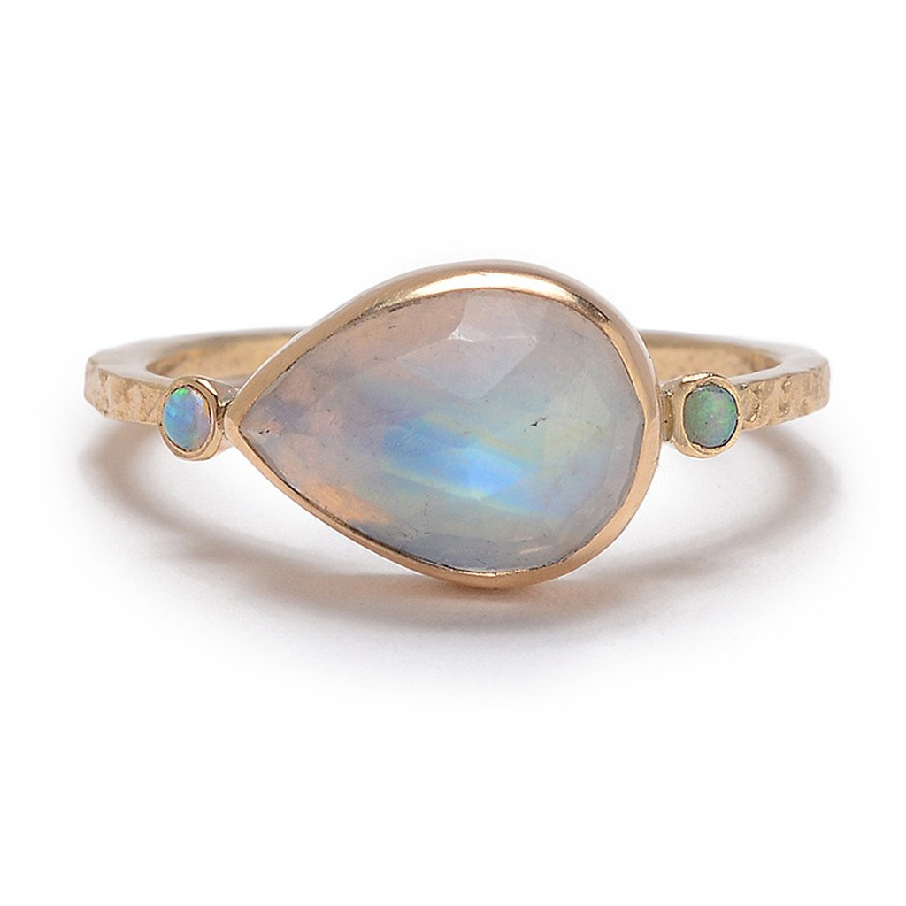 MOONSTONE OPAL RING - Emily Amey Handmade one of a kind jewelry Hudson Valley New York.