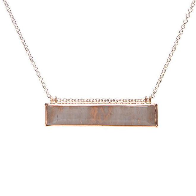 ROSE GOLD SS LUNALITE NECKLACE
