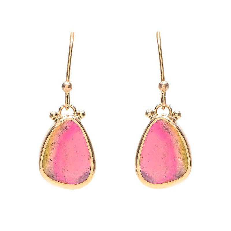 14K PASTEL WATERMELON SLICE DROPS