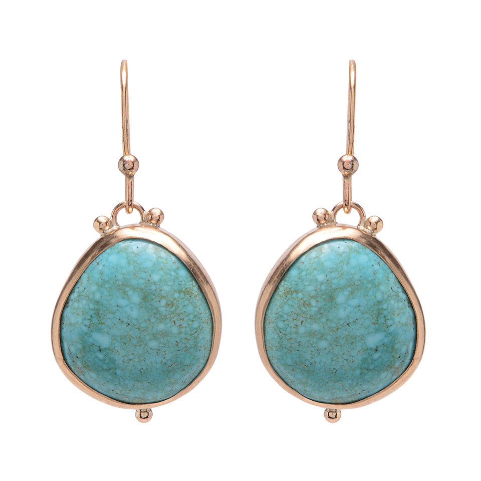 14K TURQUOISE DROPS