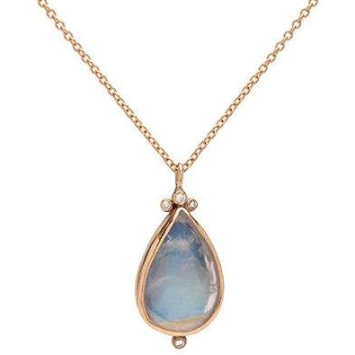 14K RAINBOW MOONSTONE WITH DIAMONDS