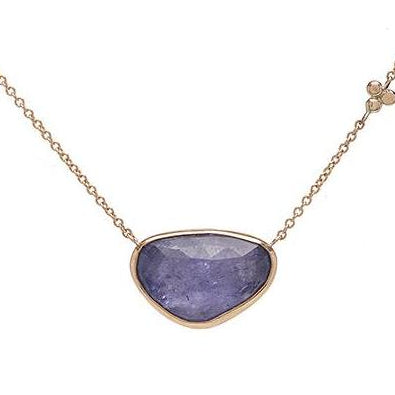 14K ROSECUT TANZANITE NECKLACE