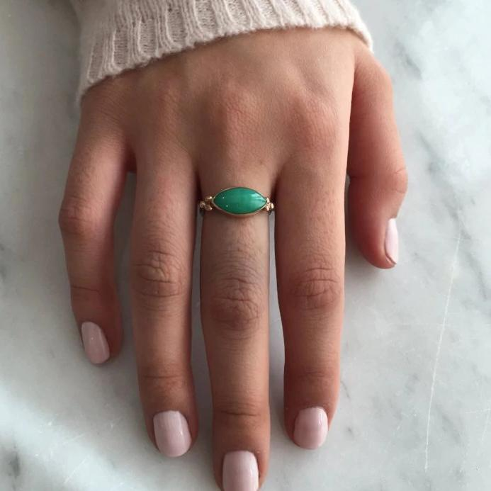 MARQUIS CHRYSOPRASE RING
