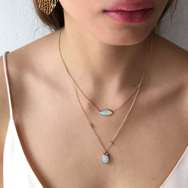 14k OPAL BUBBLE - Emily Amey Handmade one of a kind jewelry Hudson Valley New York.