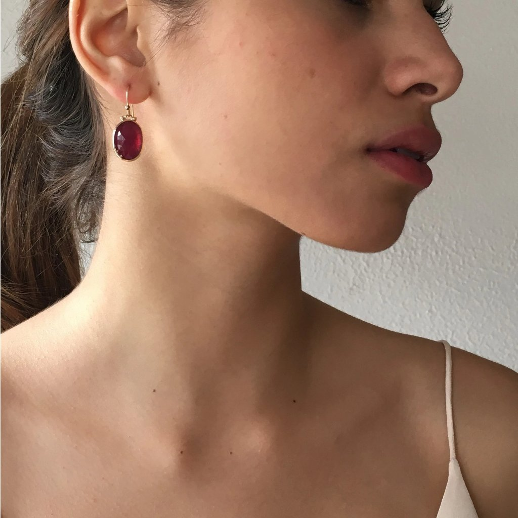 RHODOLITE EARRINGS