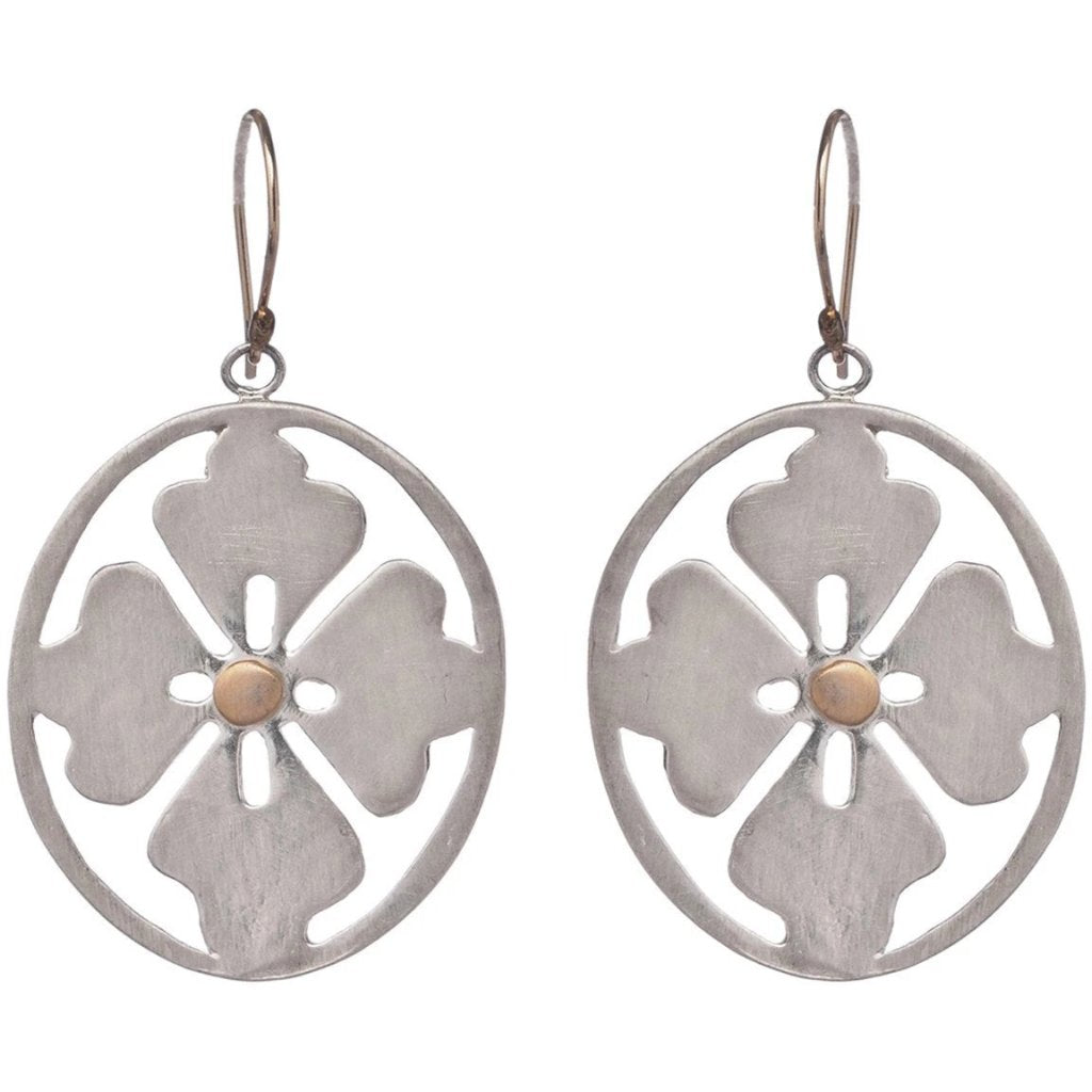 CLOVER OVAL EARRINGS