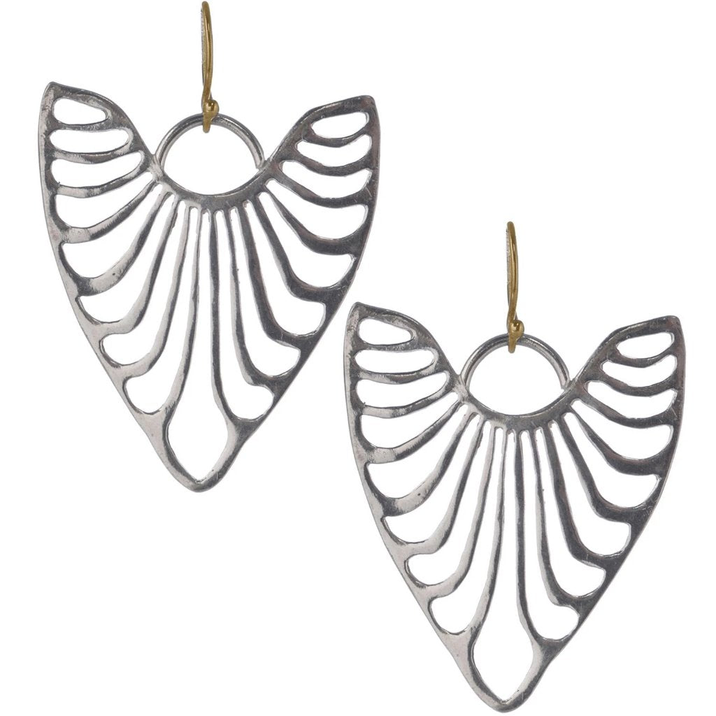 HEART RIBS EARRINGS