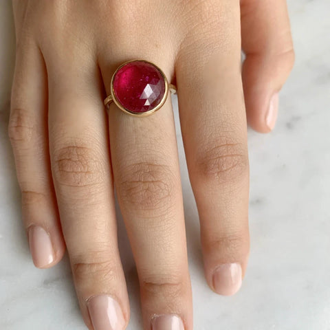 14K RUBY COCKTAIL RING