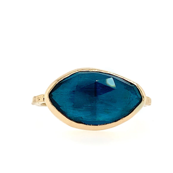 14K ROSECUT LONDON BLUE TOPAZ