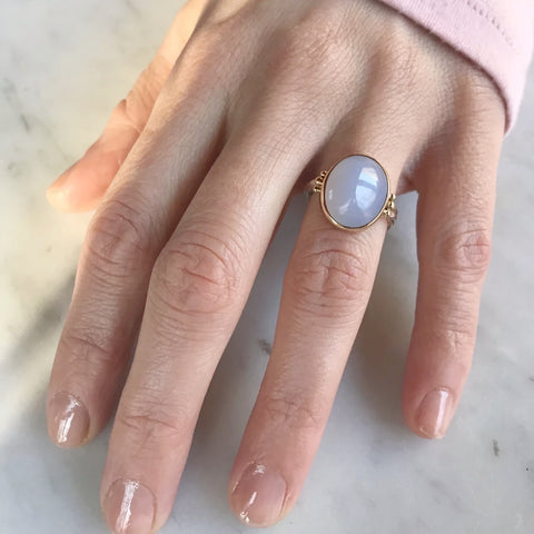 CHALCEDONY SUGARLOAF RING