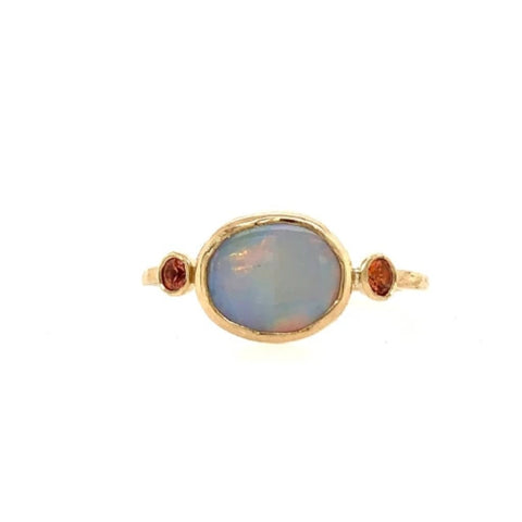 14K OPAL AND SUNSET SAPPHIRE