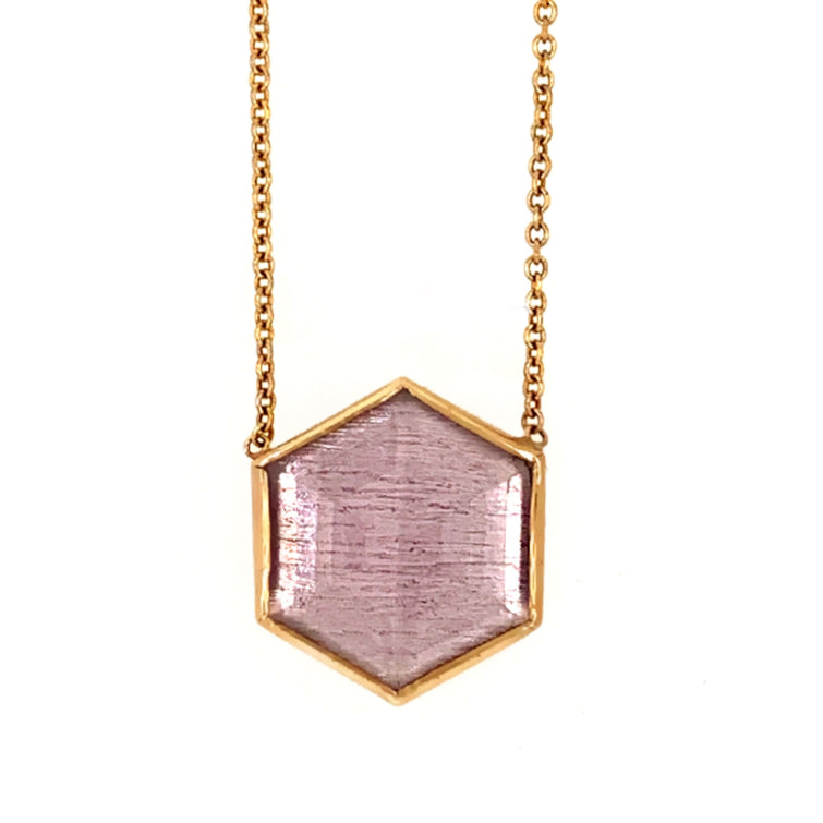 14k AMETHYST HEXAGON