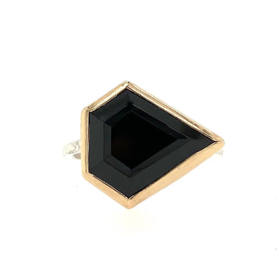 14k AND SS SPINEL SHIELD