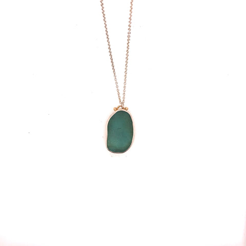 FREEFORM SEAGLASS NECKLACE