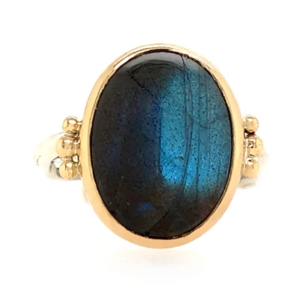 LABRADORITE SUGAR LOAF RING