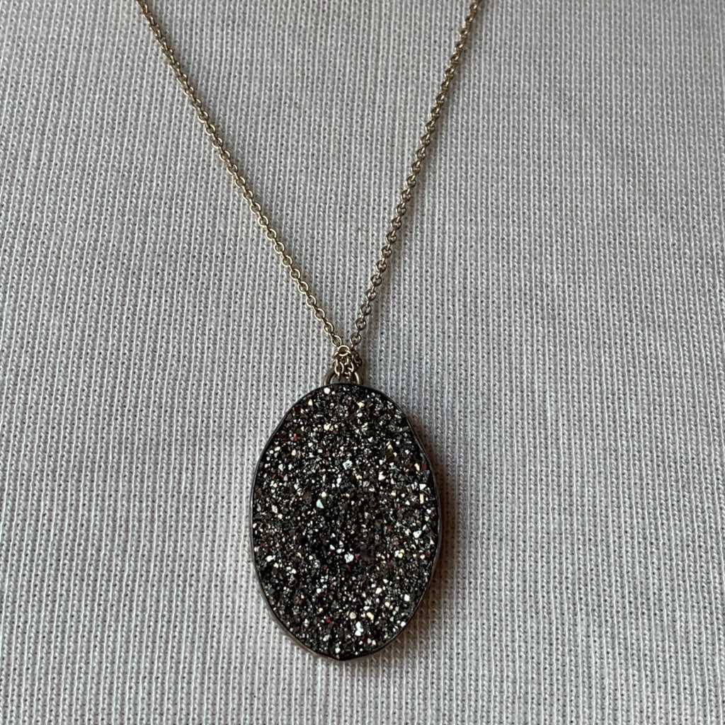 PLATINUM DRUSY NECKLACE
