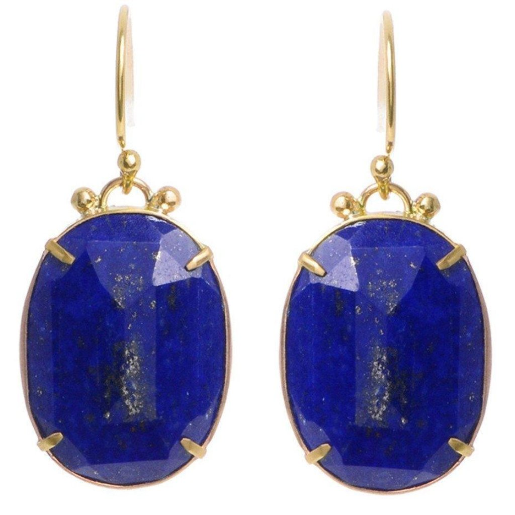 LAPIS PRONG EARRINGS