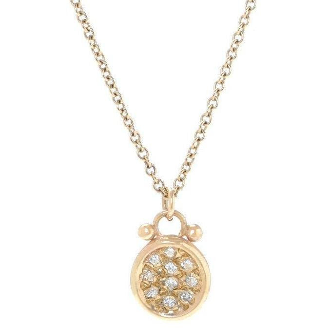 14K PAVE PUDDLE NECKLACE