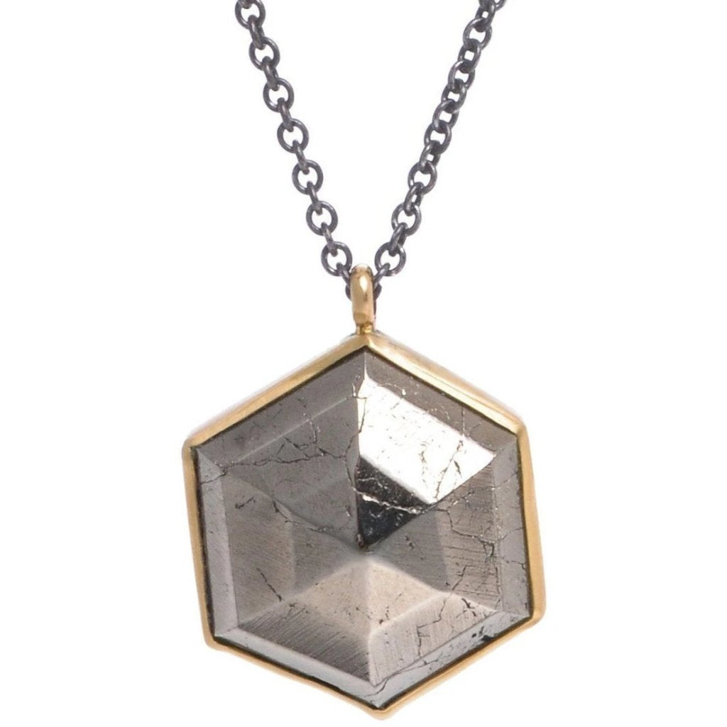 PYRITE HEXAGON NECKLACE