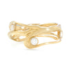 14K OR SS SEAGRASS BAND WITH 3 DIAMONDS - Emily Amey Handmade one of a kind jewelry Hudson Valley New York.