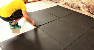 Flatline Black Rubber Gym Flooring 1m x 1m x 30mm