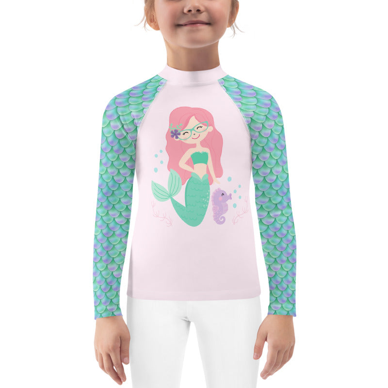 Kids UV sun protection rash guard