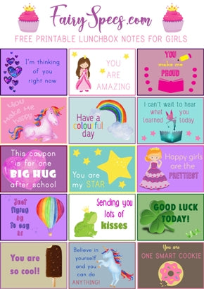 photo regarding Printable Lunch Notes called Totally free Printable Lunchbox Notes For Women of all ages Fairy Requirements