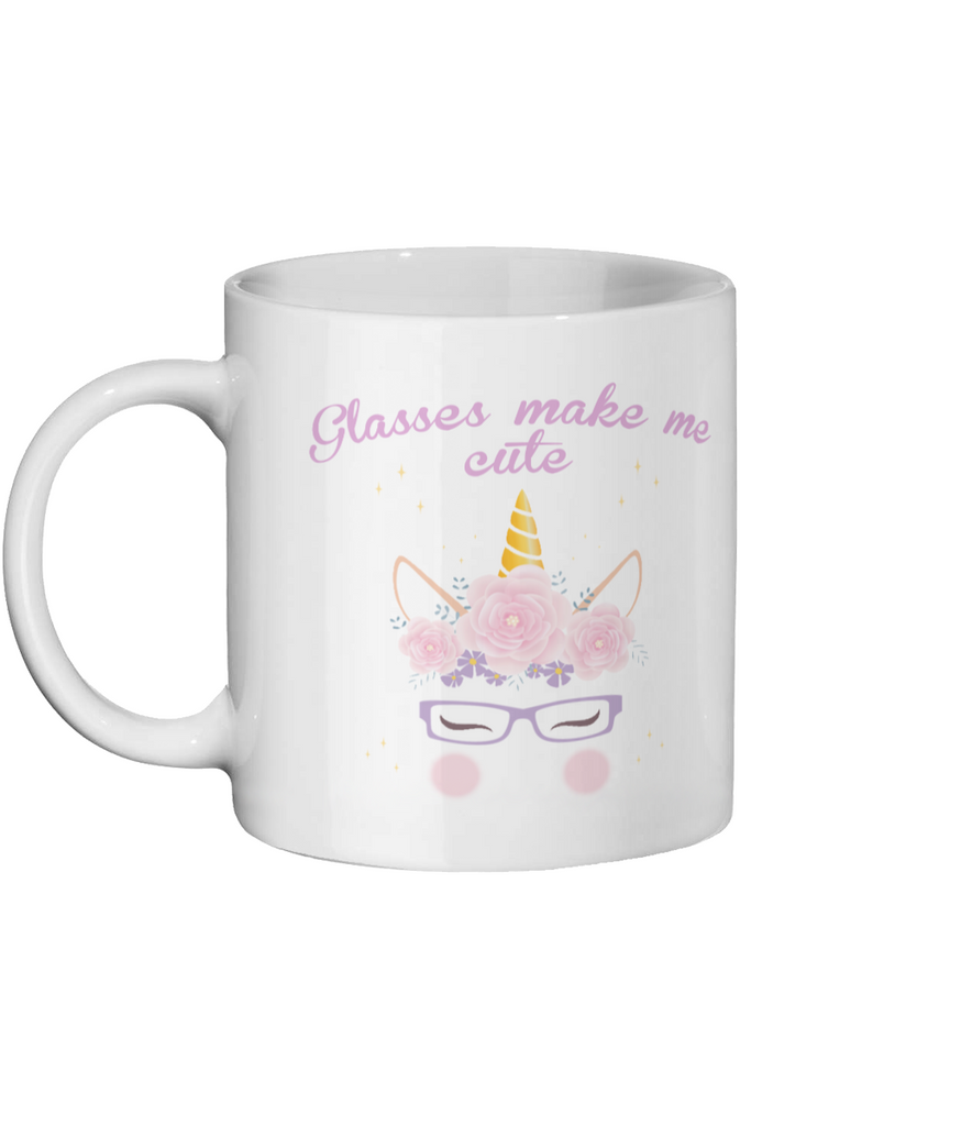 Glasses make me cute - Unicorn Mug
