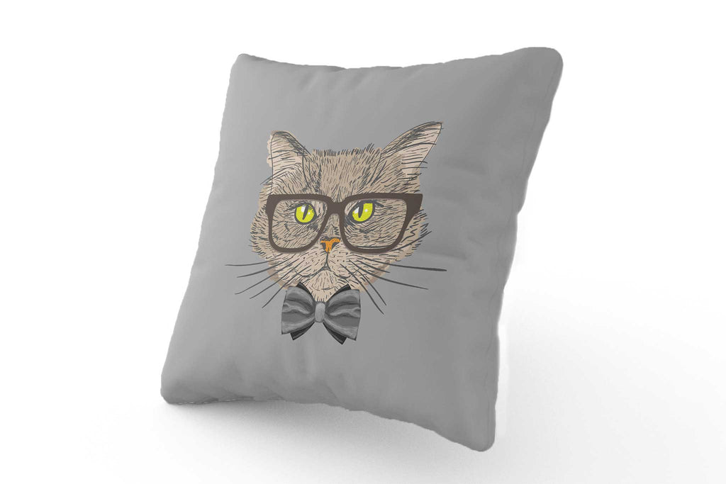 Cushion - Smart Cat with Glasses - Fairy Specs