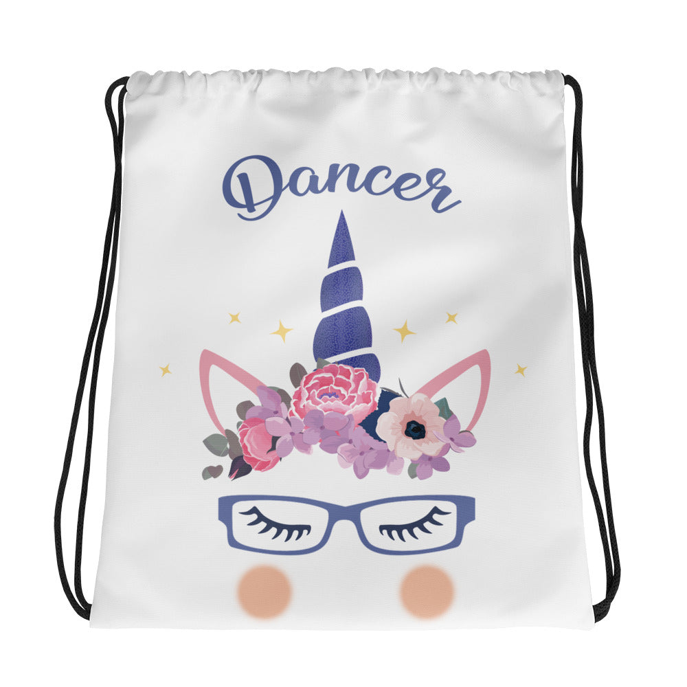 Unicorn with glasses sports bag for dancers