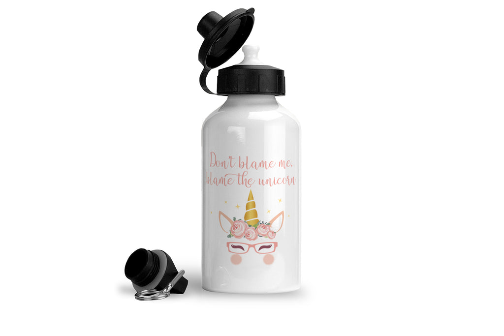 Don't blame me blame the unicorn - Unicorn Drink Bottle - Fairy Specs