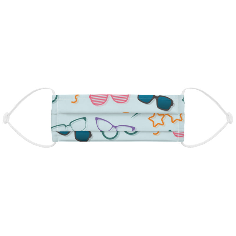Fairy specs custom made face mask for opticians with eyeglasses pattern