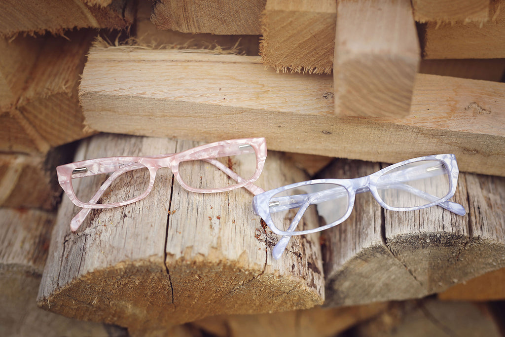 Sparkly pink girls glasses