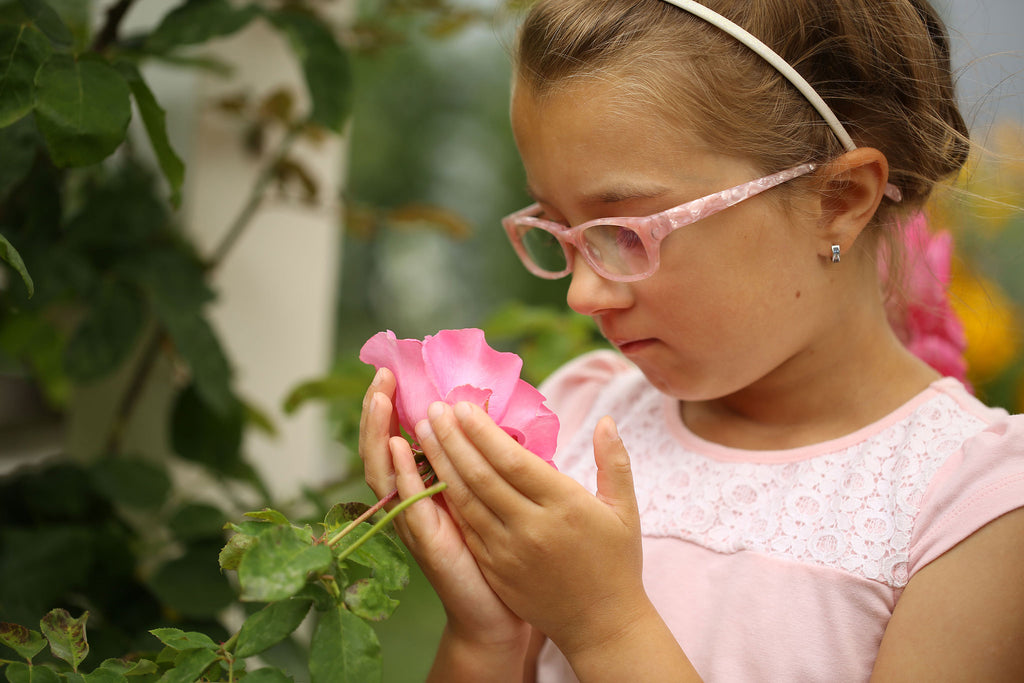 Beautiful rose pink glasses for children